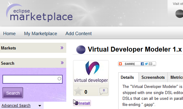 Virtual Developer Modeler - Eclipse Marketplace