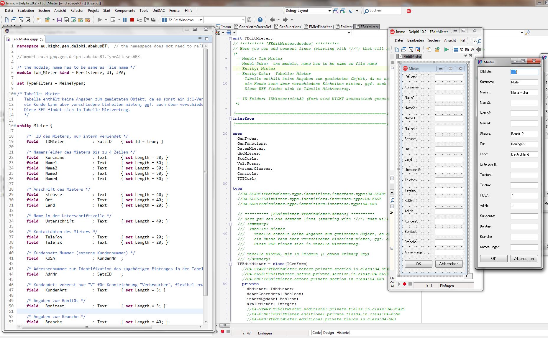 vom Modell über Code zur fertigen Delphi-Anwendung
