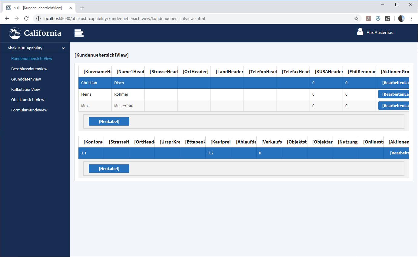 abakusBT - Kundenübersicht